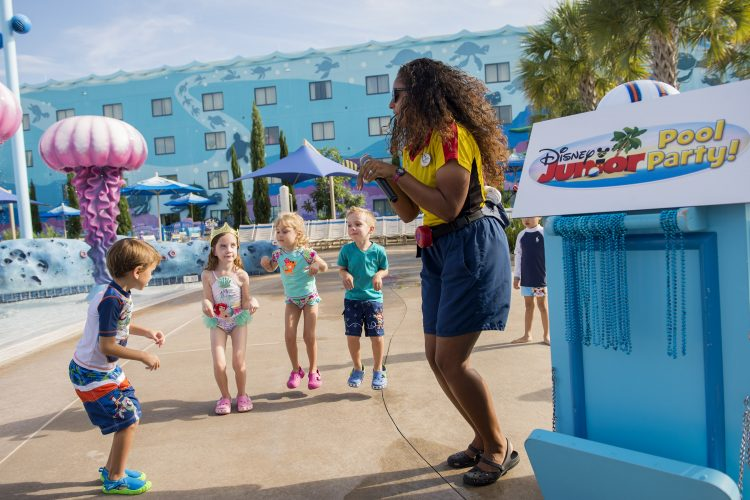Pool party at Disney's Art of Animation Resort to beat the summer heat in Disney parks