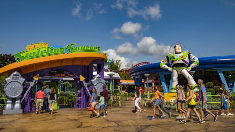 Alien Swirling Saucers In Toy Story Land Walt Disney World News
