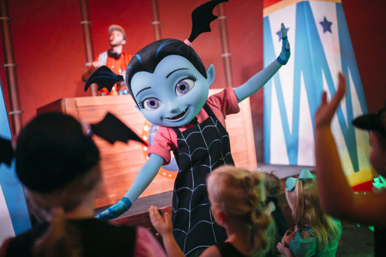 vampirina makes her debut at the walt disney world resort as part of the storybook circus disney junior jam that takes place during mickeys not so scary