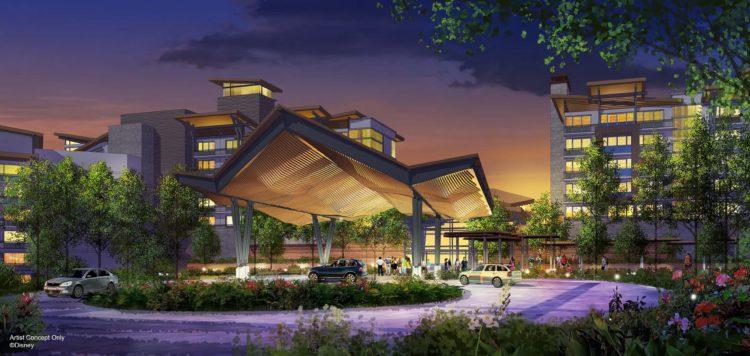 [Disney Vacation Club] Reflections – A Disney Lakeside Lodge, nouvel hôtel sur le site de River Country (2022) PorteCochere_Oct2018-750x356