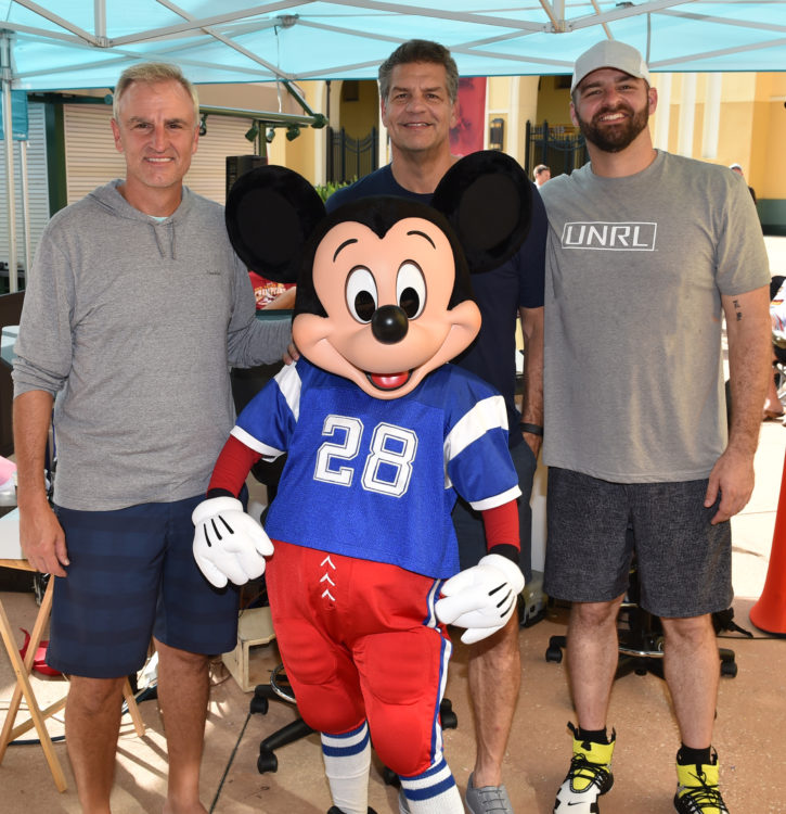 Espn Radio Hosts Trey Wingo Mike Golic And Mike Golic Jr Broadcast Show From Espn Wide World Of Sports Complex Disney Sports News